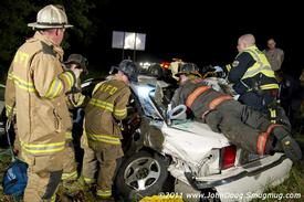 Crews assisting with Patient Care and Extrication