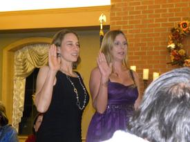 Our Associate Officers Kim Corcoran and Lauren Johnson.