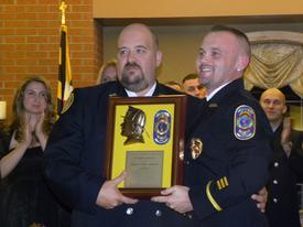 Richard Sullivan received the firefighter of the year award from the department.