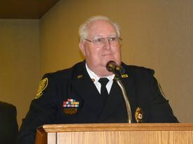 Chaplain of Department Keith Fairfax.