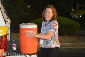 Associate Jamie Olson with our refreshments. You can always count on her.