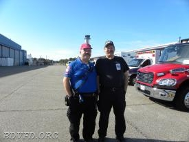 Two old veterans of the rescue squad Danny Brown and Kim Davidson.