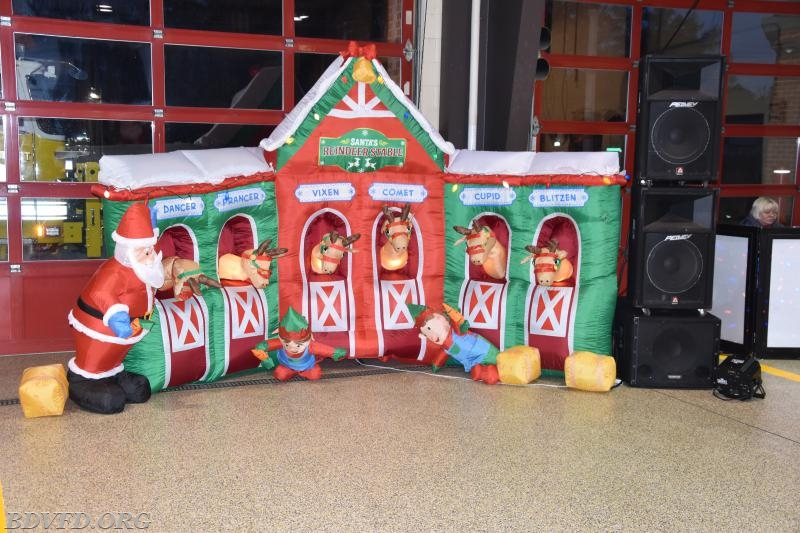 This is what welcomed the little elf's to the station