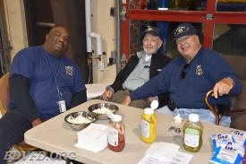 The three stooges (Curly, Larry and Moe) selling hot dogs and soda's. No we didn't eat more than we sold.