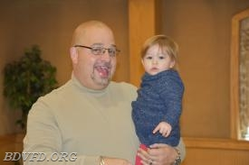 Past Chief Mike Stanley with his grandson. I remember him as a 16 year old junior member now he has grand babies.