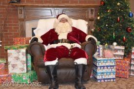 Santa looks beat.