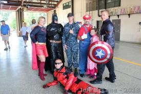 The super Hero's and a REAL Hero!!